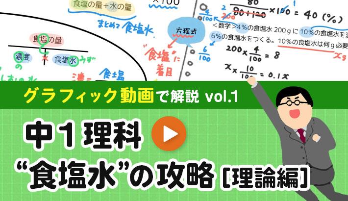 "中1理科 ""食塩水""の攻略[理論編] 動画で解説"